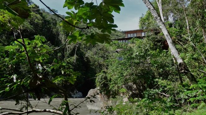 The lodge at Amaru Mayu, peeking through the trees